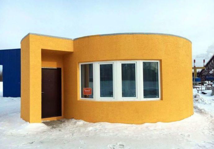 Pomoću tri D printera izgrađena kuća za 24 sata