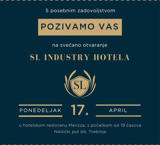 """U ponedeljak veče svečano otvaranje novog hotela """"Sl Industry"""""""