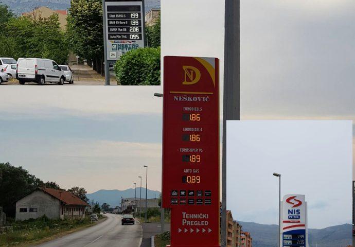 FOTO VIJEST: Na jednoj trebinjskoj pumpi gorivo jeftinije 10 pfeninga po litru