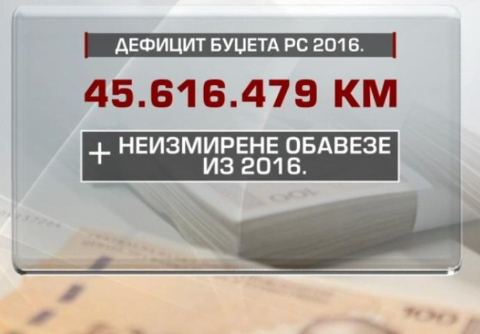 Vlada priznala deficit od 45 miliona maraka