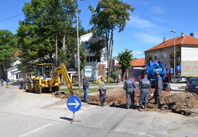 NEVESINJE: Počela izgradnja kružnog toka i rekonstrukcija vodovodne mreže
