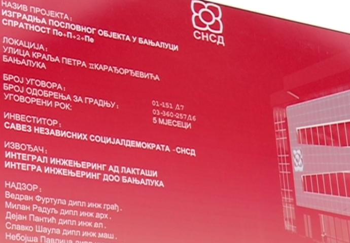 Petrović: Snsd- ova zgrada u Banjaluci koštaće 1.280.000 KM (video)