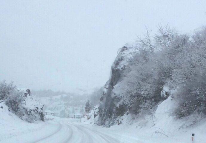 Nekoliko udesa: Ovako su danas izgledali putevi u Hercegovini