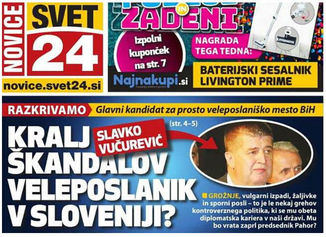 Slovenački mediji: Slavko Vučurević kralj skandala