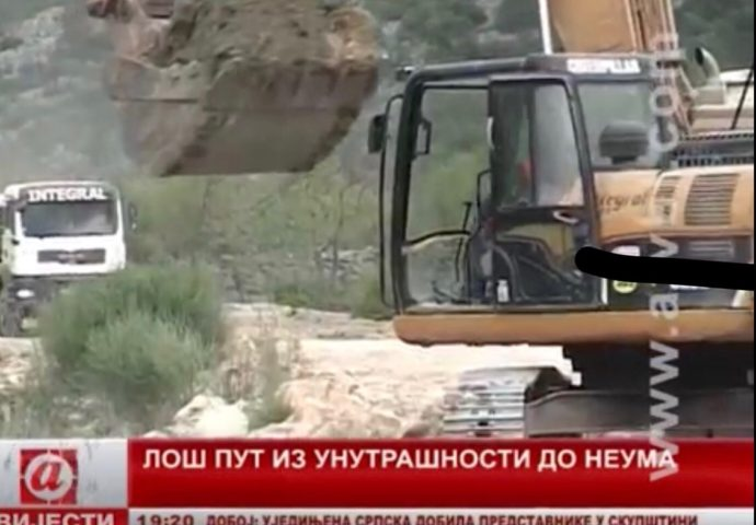 VIDEO: Loš put iz unutrašnjosti do Neuma