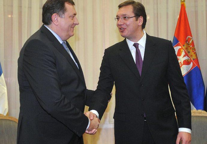 Poziv građanima da  se okupe i pozdrave predsjednike Srbije i Srpske
