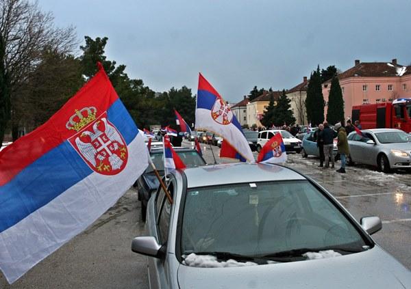Trebinje: Veličanstvena kolona  vozila u čast Dana Republike