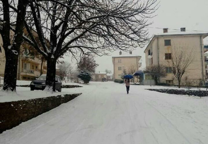 Bileća okovana ledom i snijegom- fali ljudstva i mehanizacije