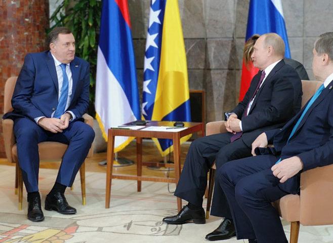 Dodik i Cvijanović s Putinom: Dobri odnosi Srpske i Rusije, saradnja se nastavlja
