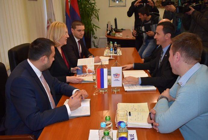 Cvijanovićeva se sastala sa Ćurićem – Podrška projektima u oblasti obrazovanja i sporta