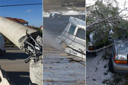 Foto/ video: Jezive slike stižu iz Dalmacije- vjetar dostizao brzinu 200 km/h