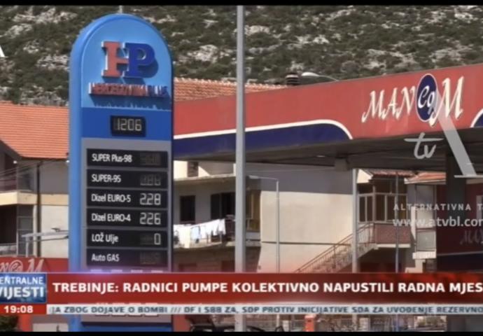 VIDEO: Evo zašto su radnici trebinjske benzinske pumpe dali otkaz