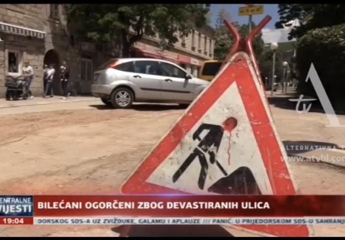 VIDEO: Za dvije nedjelje kraj rekonstrukcije bilećkih ulica