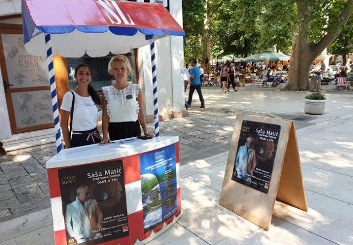 U petak i subotu kartu za koncert Saše Matića možete da kupite na promo štandu na Trgu
