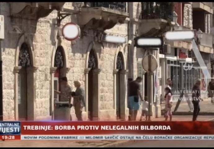 VIDEO: Borba protiv nelegalnih bilborda u Trebinju