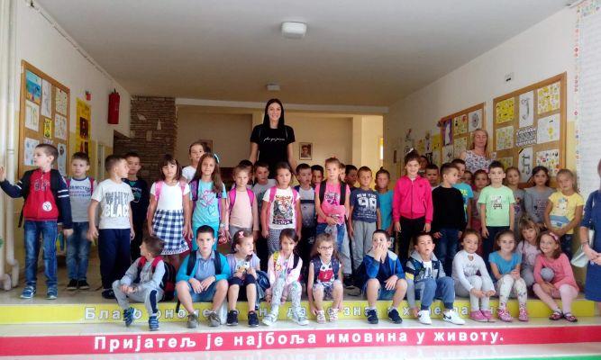 Tijana Bošković obradovala učenike škole u kojoj joj je odbojka postala životni san