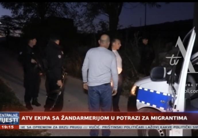 ATV ekipa sa Žandarmerijom u potrazi za migrantima