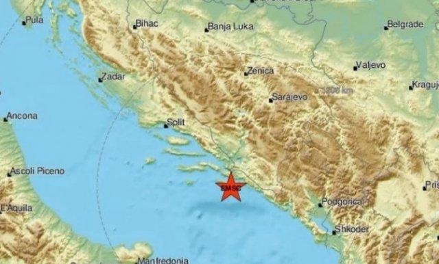 Jači zemljotres kod Dubrovnika