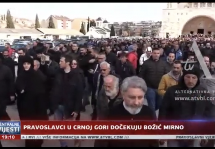 VIDEO: Pravoslavci u Crnoj Gori dočekuju Božić mirno
