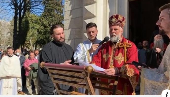 VIDEO: Besjeda Ep. Grigorija na Božanstvenoj liturgiji uz odar Episkopa Atanasija