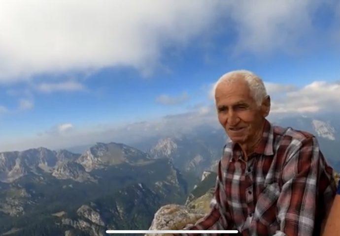 VIDEO: Vojin Mišeljić u 87 godini na najvišem vrhu Balkana