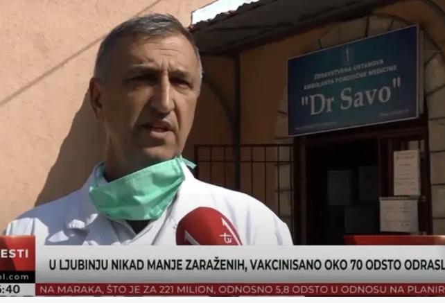 U Ljubinju nikad manje zaraženih, vakcinisano oko 70 odsto odraslih